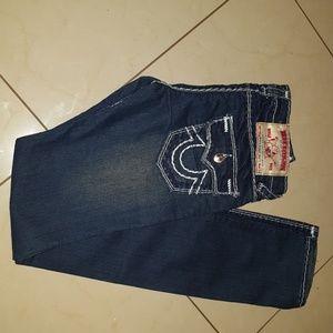 True religion brand jeans seat 34
